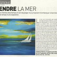 Vicky Ménard (Français) Article sur Ambiance Marine (Local/Nelles)